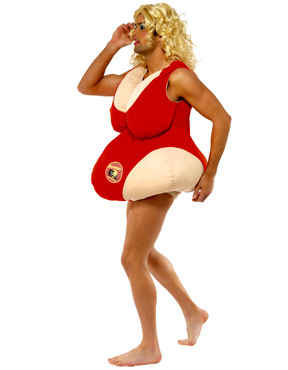 Baywatch Babe Costume - Side View