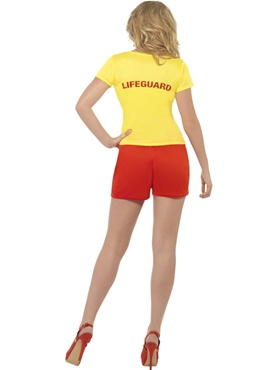 Adult Baywatch Ladies Beach Costume - Side View