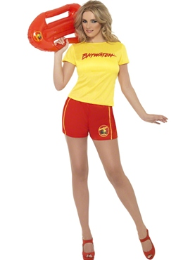 Adult Baywatch Ladies Beach Costume Thumbnail