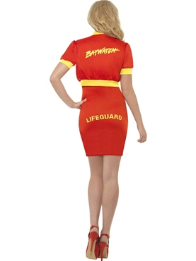 Adult Ladies Baywatch Beach Lifeguard Costume - Side View