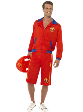 Adult Baywatch Beach Mens Lifeguard Costume Couples Costume
