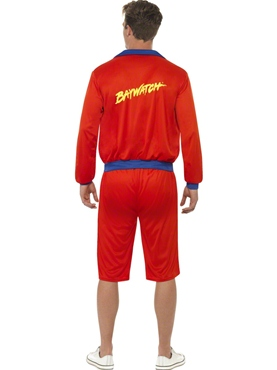 Adult Baywatch Beach Mens Lifeguard Costume - Side View