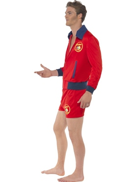 Adult Baywatch Lifeguard Costume - Side View