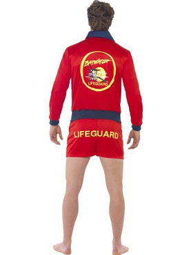 Adult Baywatch Lifeguard Costume - Back View