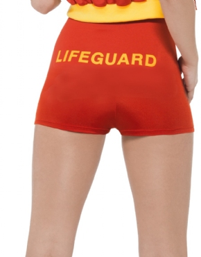 Baywatch Lifeguard Costume - Back View
