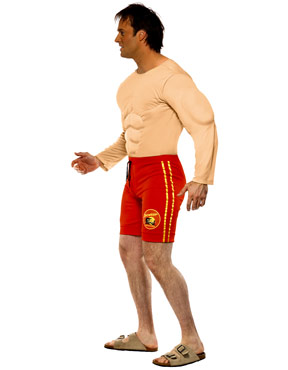Baywatch Lifeguard Costume - Side View