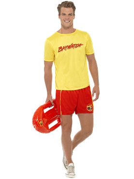Adult Baywatch Mens Beach Costume Couples Costume