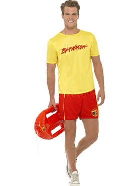 Adult Baywatch Men's Beach Costume Thumbnail