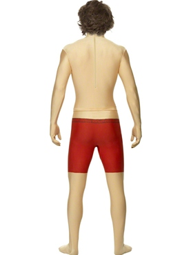 Adult Baywatch Second Skin Costume - Back View