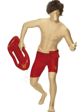 Adult Baywatch Second Skin Costume