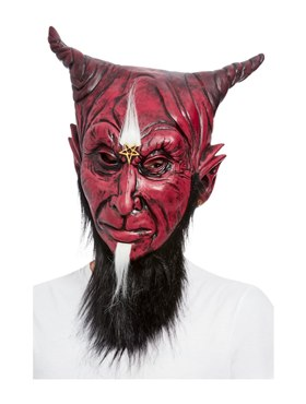 Bearded Satanic Devil Overhead Mask