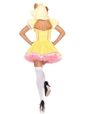 Adult Beary Cute Goldilocks Costume - Back View