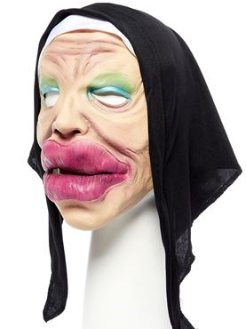 Bee Stung Nun Full Head Mask - Side View