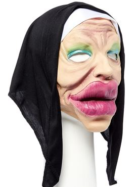 Bee Stung Nun Full Head Mask - Back View