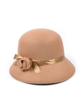 Beige Lady's 1920's Style Hat