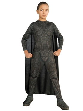 Child Man of Steel General Zod Costume