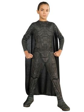 Child Man of Steel General Zod Costume