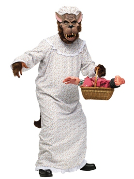 Adult Big Bad Granny Wolf Costume
