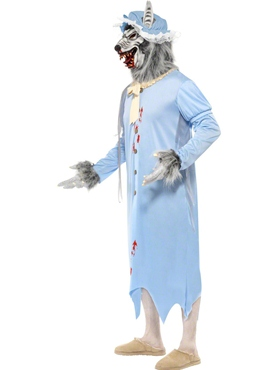 Adult Big Bad Wolf Granny Costume - Back View