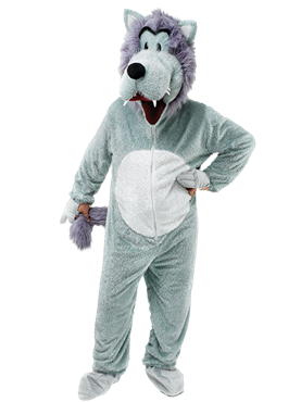Adult Big Head Wolf Costume Couples Costume