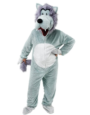 Adult Big Head Wolf Costume