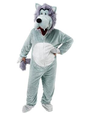 Adult Big Head Wolf Costume