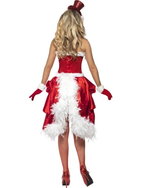 Adult Santa Baby Burlesque Costume - Back View