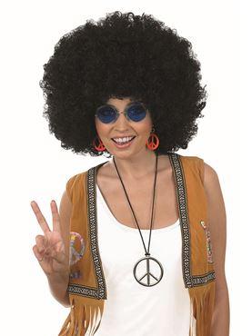 Adult Unisex Black Afro Wig