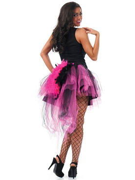 Black & Pink Tutu with Feather Tail
