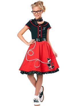 Child Black and Red 50s Sweetheart Costume