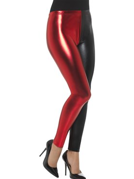 Black and Red Harlequin Cosplay Leggings