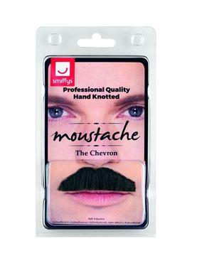 Black Chevron Moustache - Back View