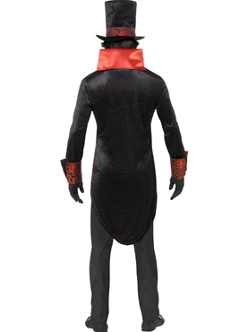 Adult Black Dracula Costume - Side View