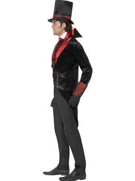 Adult Black Dracula Costume - Back View