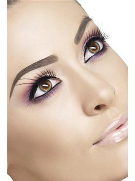 Black Eyelashes with Long Plumes