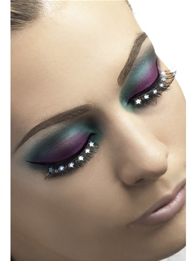 Black Eyelashes with Stars
