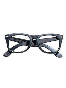 Black Frame Geek Glasses