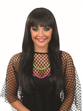 Adult Black Fringe Wig