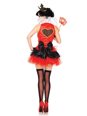 Adult Black Heart Queen Costume - Back View