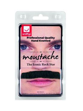 Black Iconic Rock Star Moustache - Back View