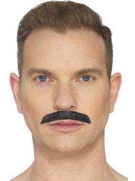 Black Iconic Rock Star Moustache