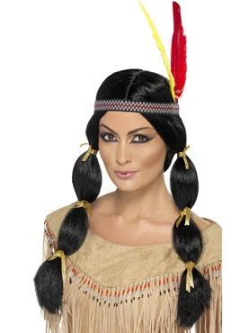 Ladies Black Indian Wig