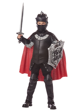 Child Deluxe Black Knight Costume - Back View