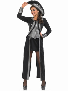 Adult Black Pirate Girl Costume