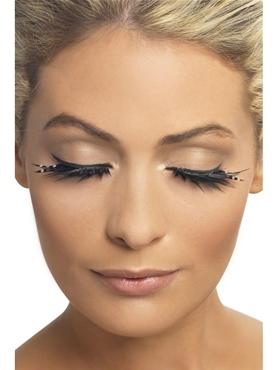 Black Sparkle Eyelashes - Back View