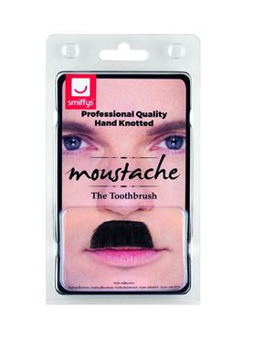 Black Toothbrush Moustache - Back View
