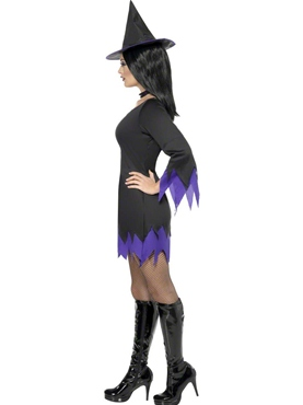 Adult Black Witch Costume - Back View