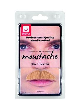 Blonde Chevron Moustache - Back View