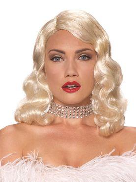 Adult Blonde Femme Fatale Wig