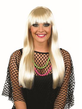 Adult Platinum Blonde Fringe Wig